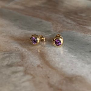 Jewelry - Custom Designed Natural Amethyst 14k Gold Earrings